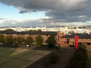 The view from the fourth floor of the CIE building