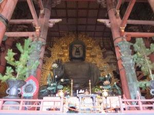 The giant Buddha (Daibutsu) housed inside the Daibutsuden