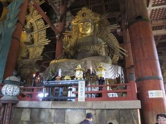 The Bodhisattva on the Buddha's left, Nyoirin-kannon.
