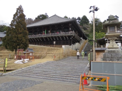 The Nigatsudo; an annual ceremony is held here at the beginning of March called Omizutori