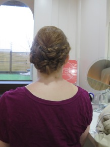 View of my hairstyle from the back