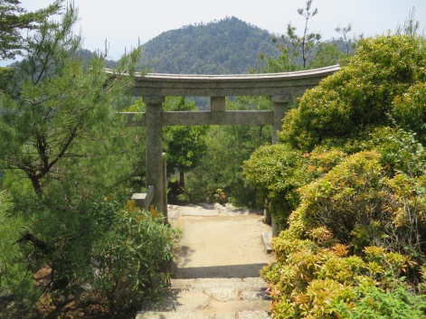 This is the torii gate entrance to a super old shrine I saw on the top of Mt. Misen. I can't find it's name, but I think it's the Miyama-jinja shrine.
