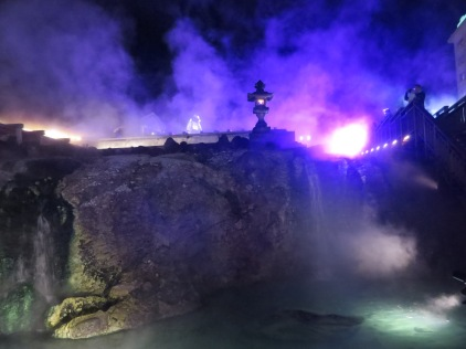 The black light helped to show all the steam rising from the water