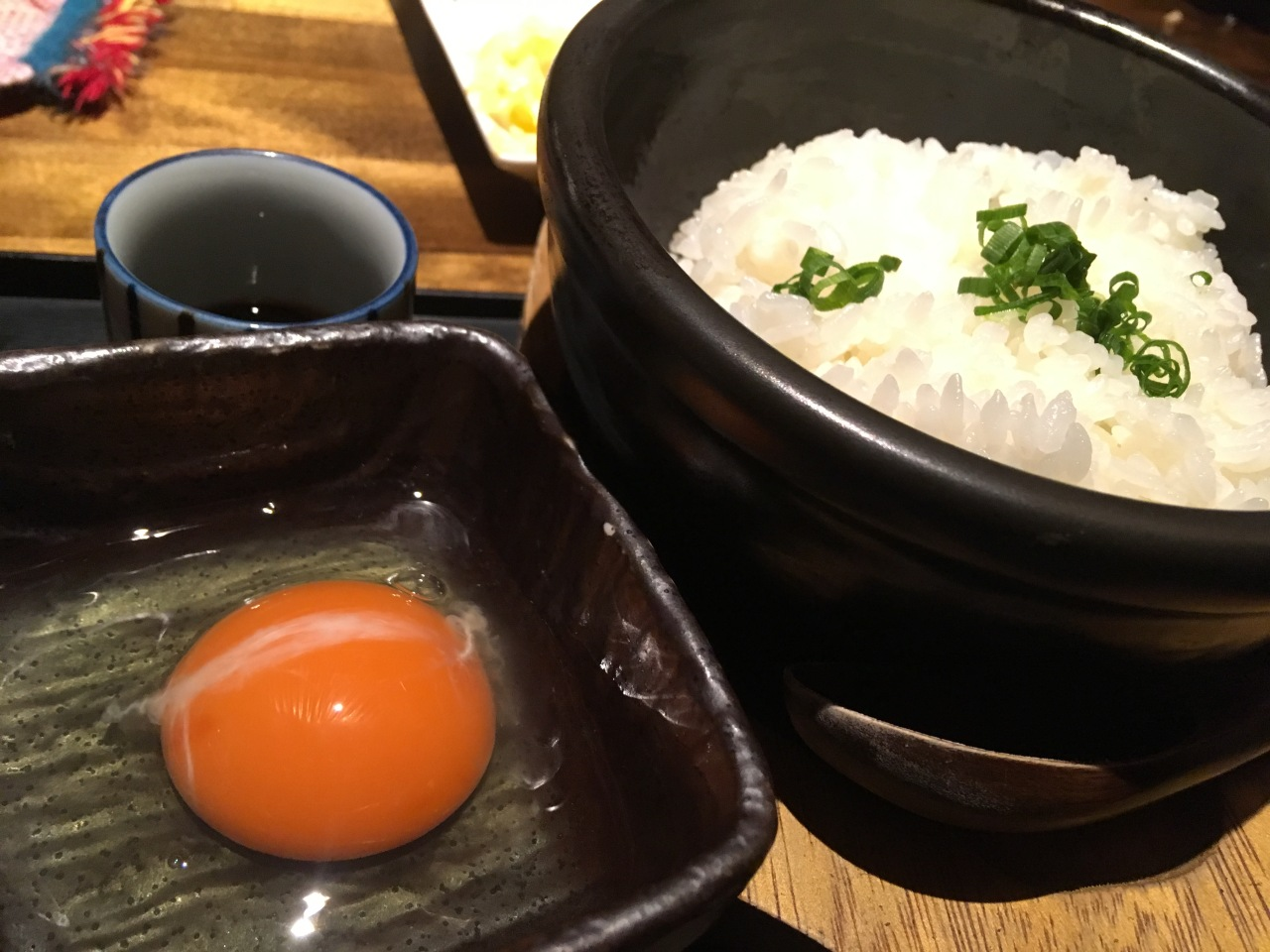 卵かけご飯 — Rice with raw egg