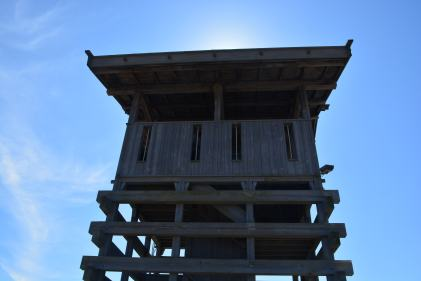 Guard tower from below