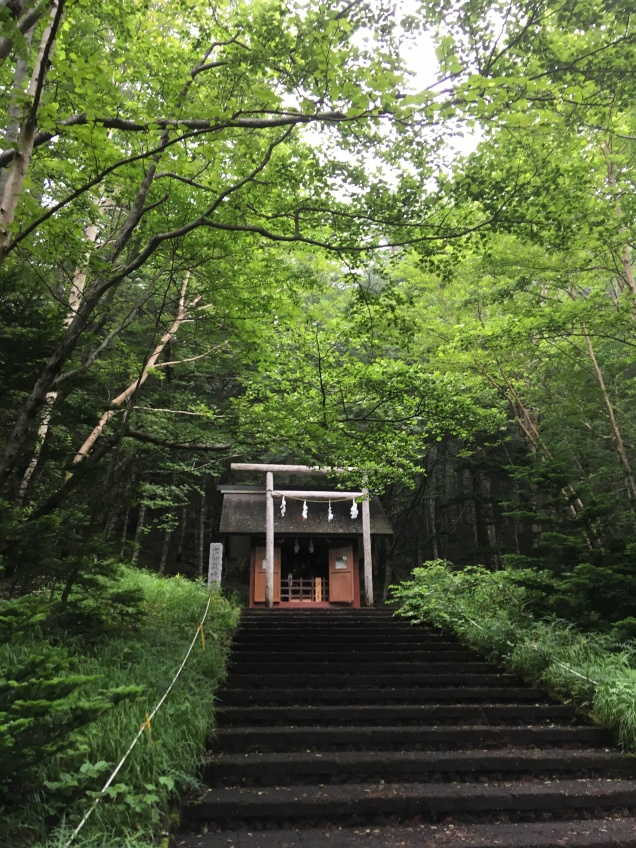 We all stopped and prayed at this shrine for a safe hike